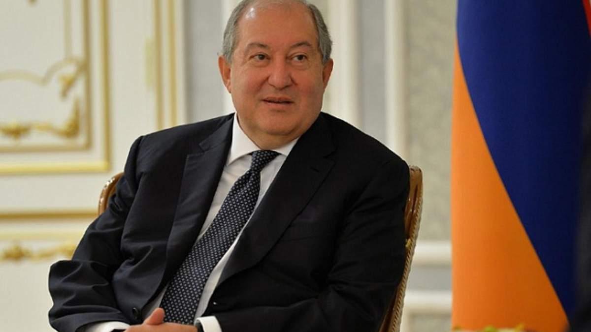 Президент Вірменії Армен Саркісян заразився новим штамом COVID-19