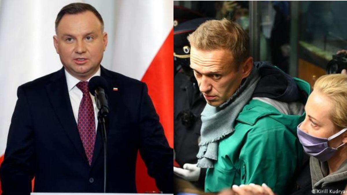 Дуда про затримання Навального: Повинне мати наслідки