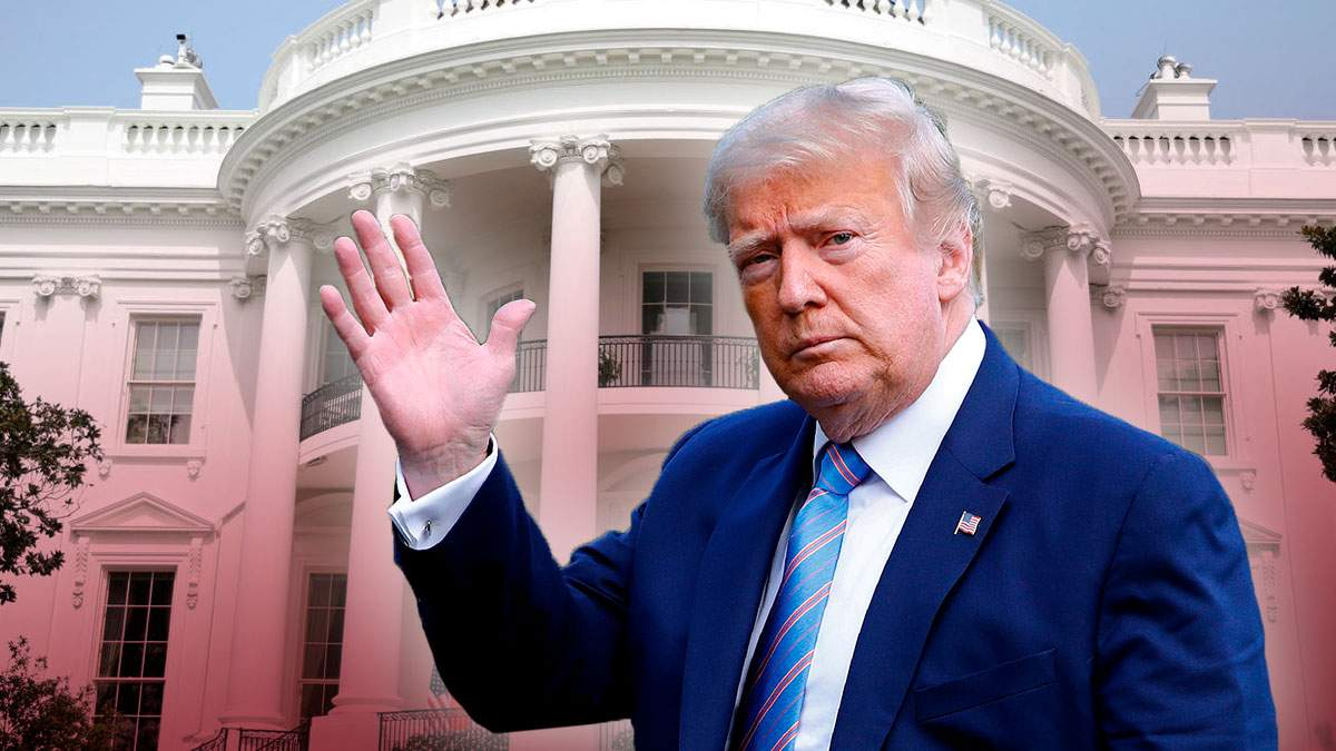 Трамп покинул Белый дом накануне инаугурации Байдена: видео