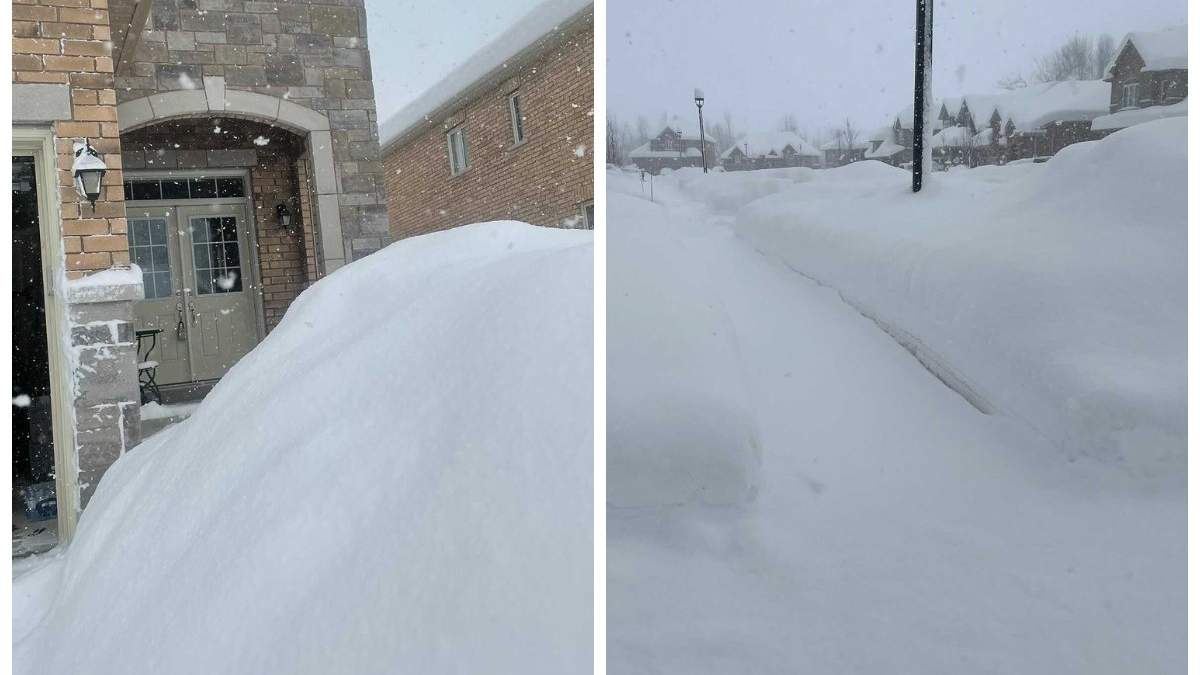 У Канаді 23 січня випало 50 сантиметрів снігу: фото та відео