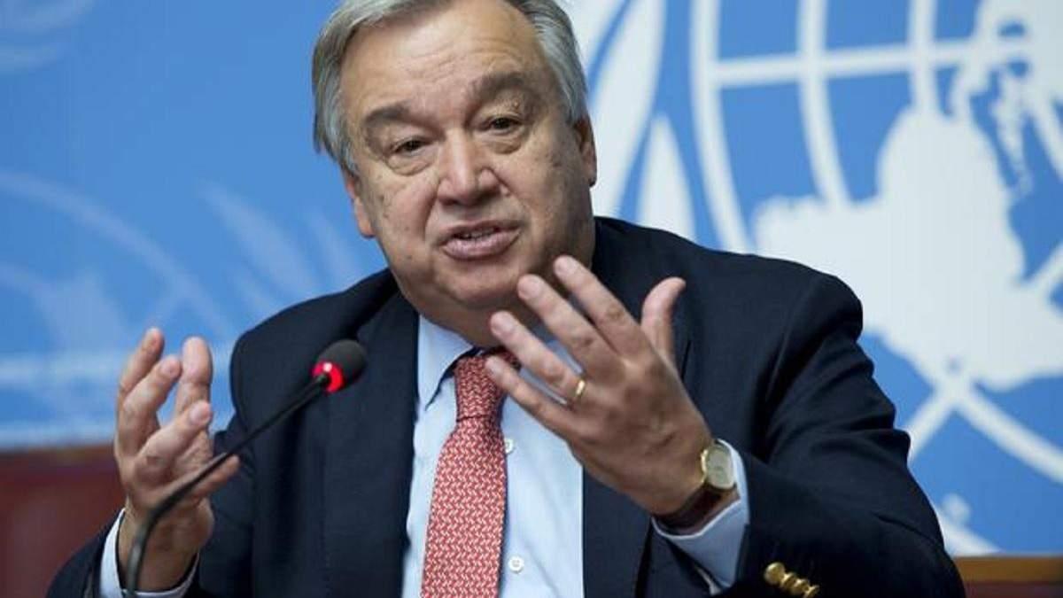 Генсек ООН побоюється, що світ розколеться на 2 частини