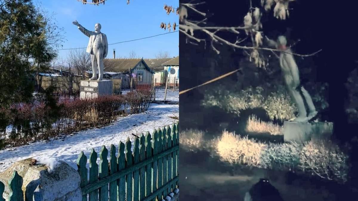 На Одещині демонтували пам'ятник Леніну
