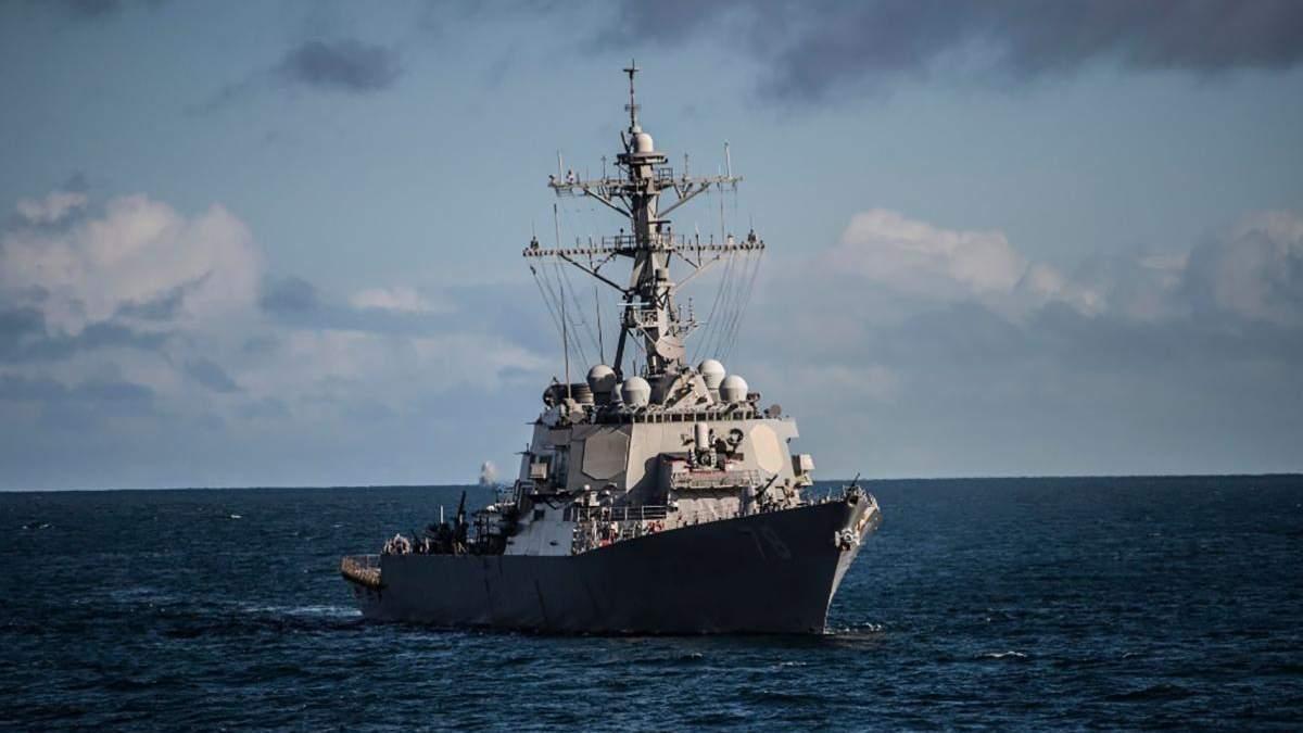 Эсминец США USS Porter направляется к Черному морю