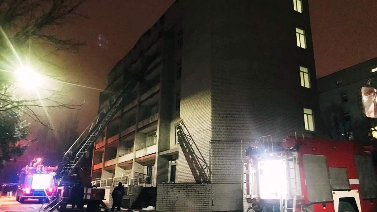Из-за пожара в больнице Запорожье открыли уголовное дело