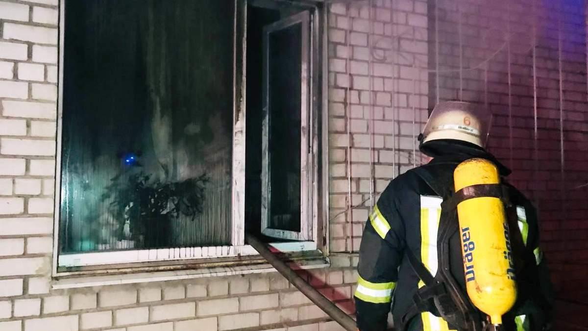 Яка попередня причину пожежі в лікарні у Запоріжжі