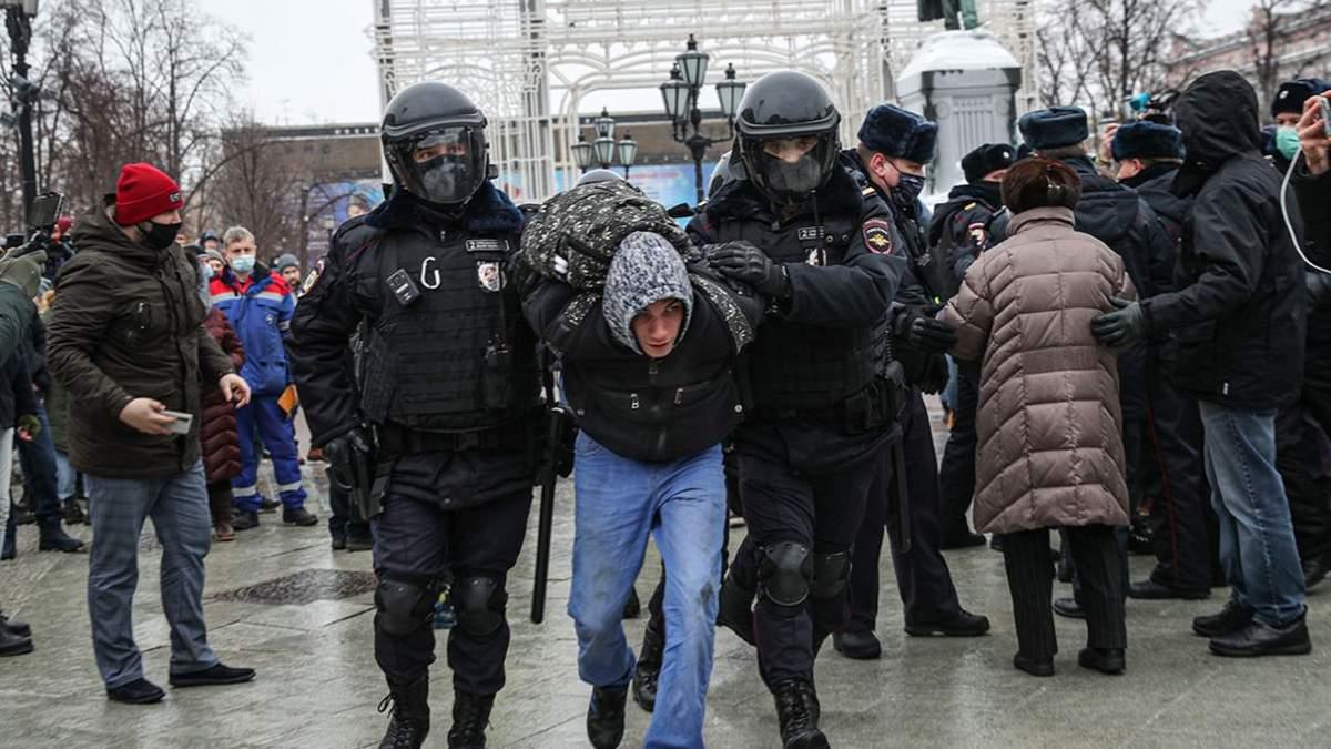 В Кремле отреагировали на план штаба Навального восстановить протесты