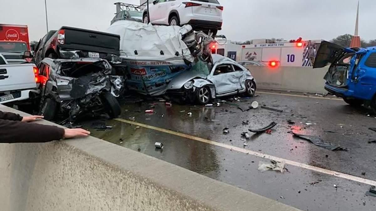 Аварія в Техасі 11 лютого 2021: відео ДТП з понад 100 авто