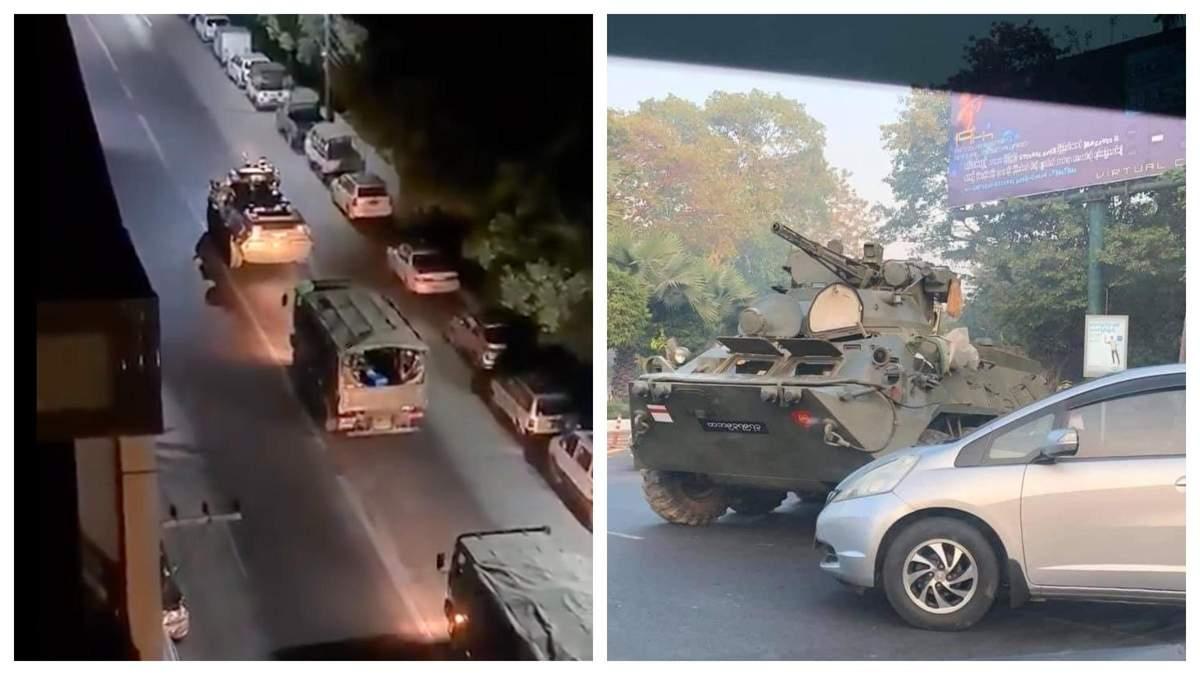 Тисячі людей вийшли на протести у М'янмі, на вулиці міст вивели танки