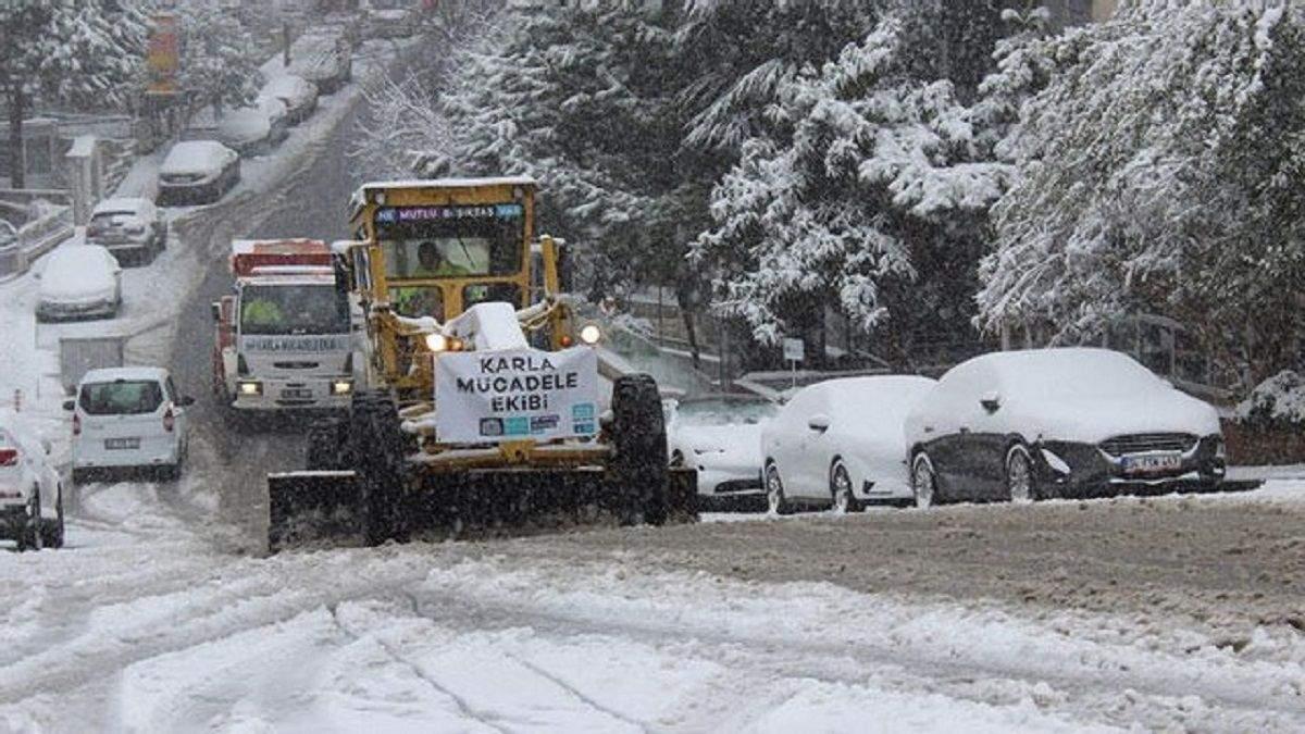 Снегопад в Стамбуле в феврале 2021 фото и видео, что будет на неделе