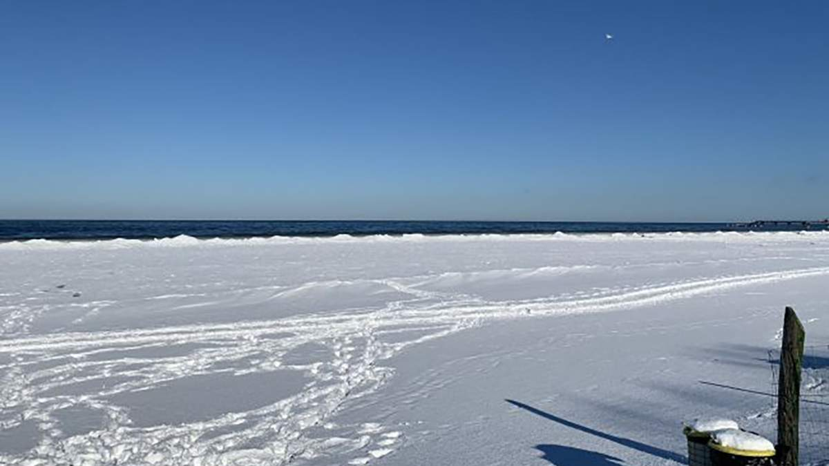 Впервые за много лет: побережье Балтийского моря замерзло – видео