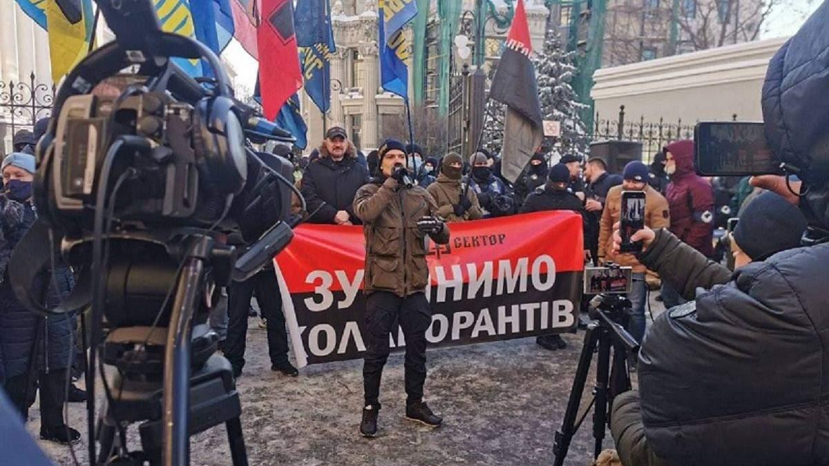 """Акция под ОПУ: от СНБО требуют """"добить российскую агентуру"""""""