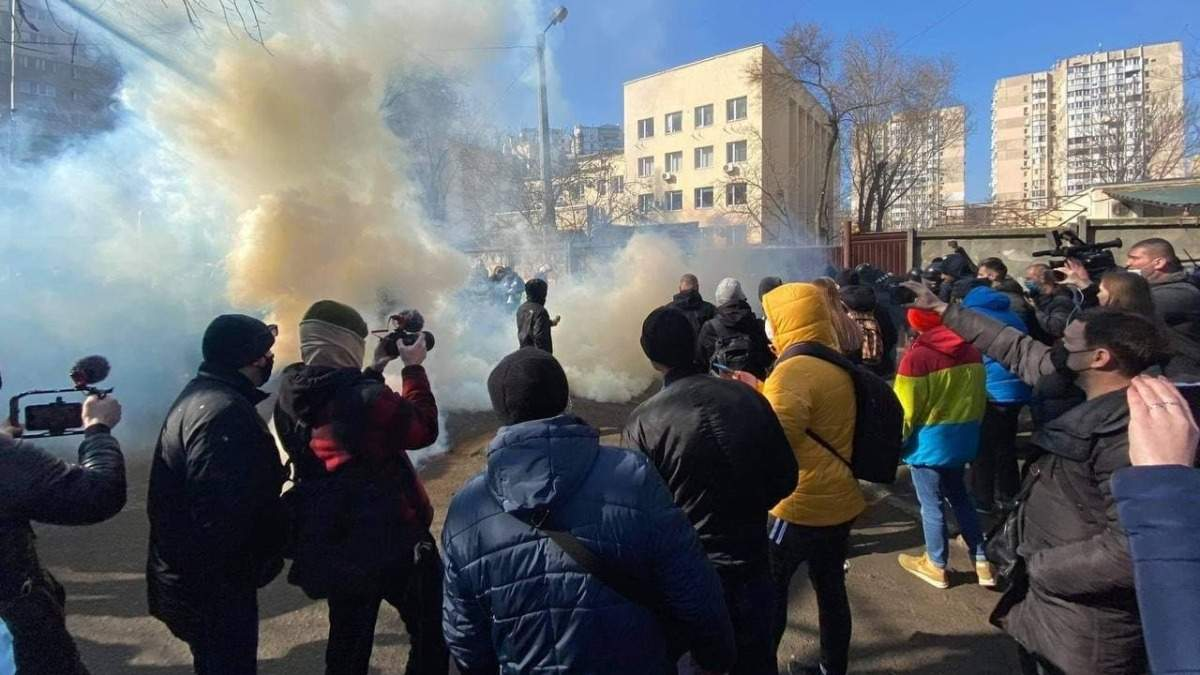 Протесты после приговора Стерненку – фото и видео Приморского суда