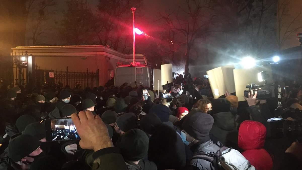 Протести на підтримку Стерненка: у Києві почалися перші сутички