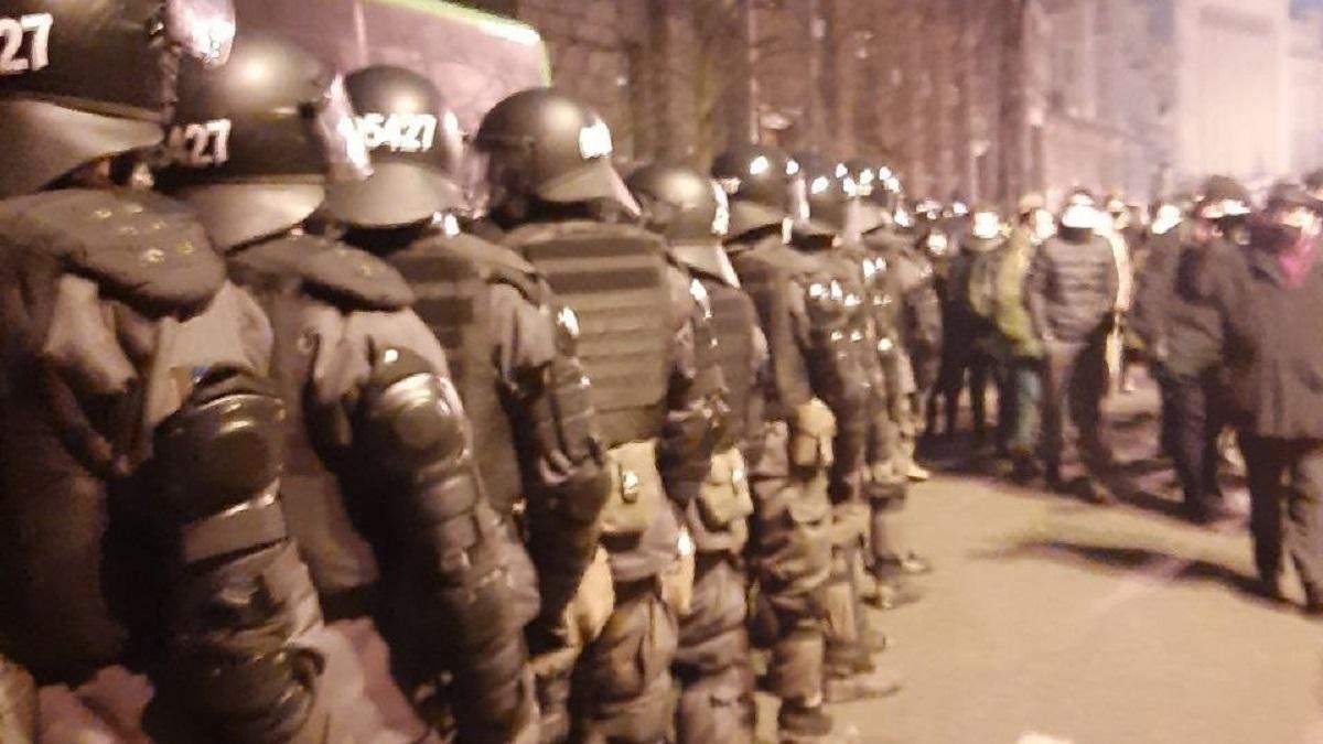 Протести під ОПУ 23 лютого 2020: силовики укріплюють свої сили