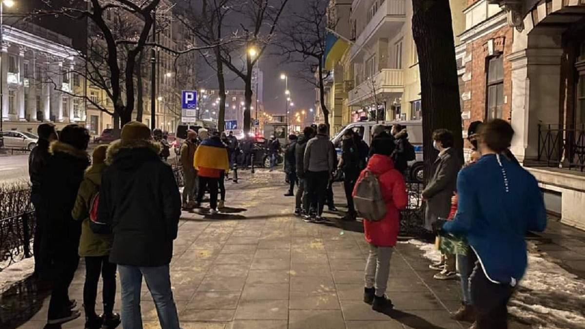 Протести на підтримку Стерненка у Варшаві 23 лютого 2021: фото