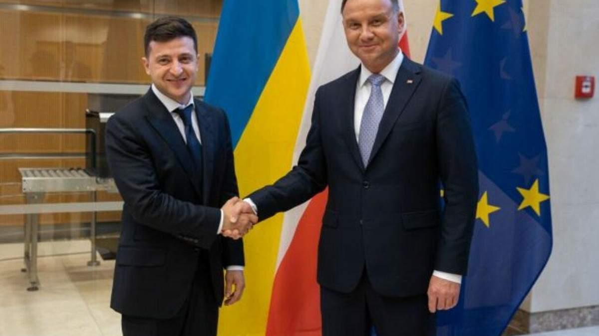 Зеленський провів телефонну розмову з президентом Польщі Дудою