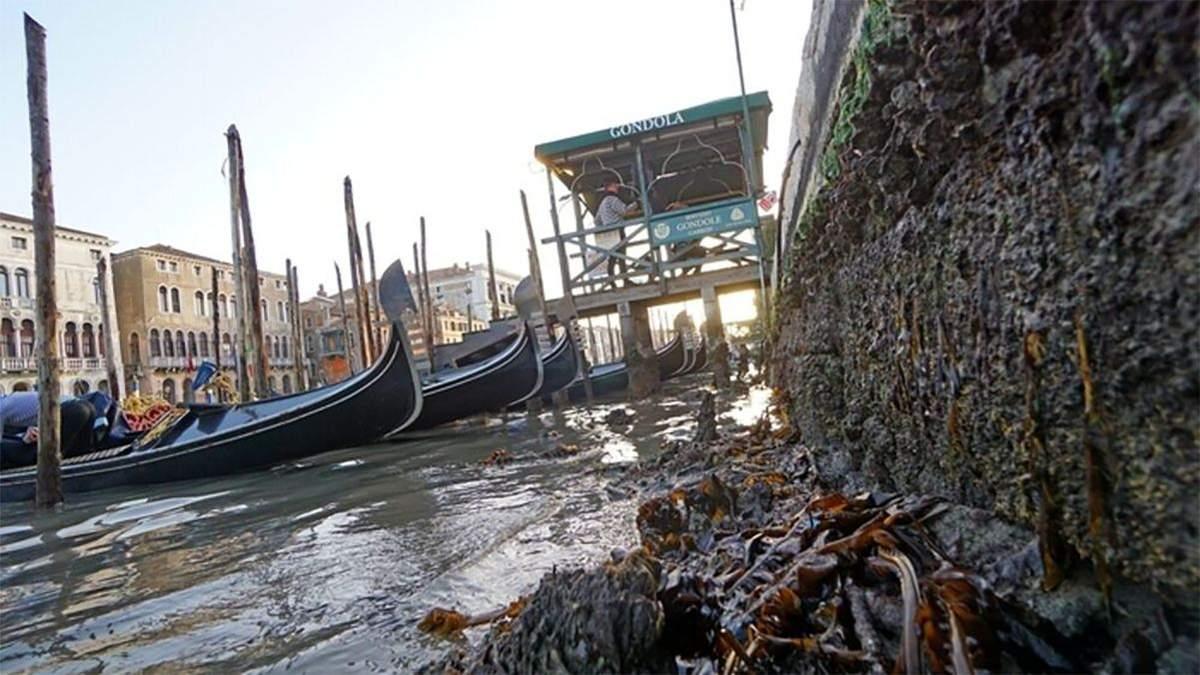 У Венеції наприкінці лютого 2021 фіксують низький рівень води у каналах: що сталося