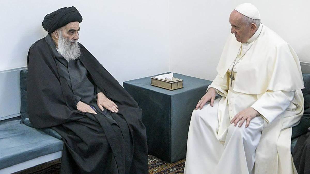 Историческая встреча: Папа Римский провел переговоры с лидером шиитов Ирака