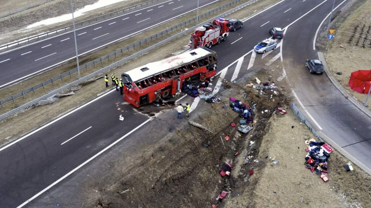 Авария в Польше: оба водителя были трезвыми и не принимали наркотиков