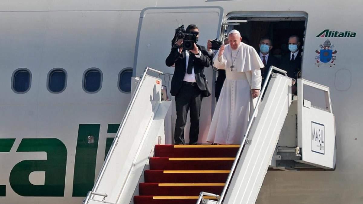 Папа Франциск завершив свій історичний візит в Ірак