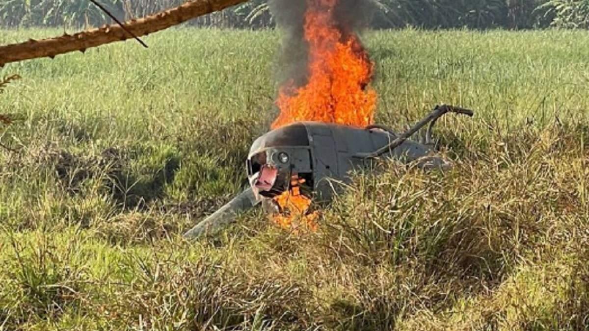 В ЦАР разбился вертолет с раненым российским вагнеривцом