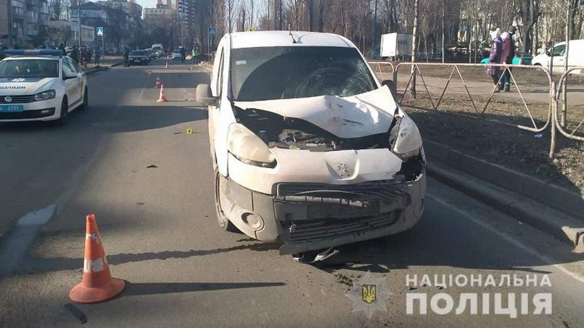 На Відрадному у Києві фургон на смерть збив пенсіонера