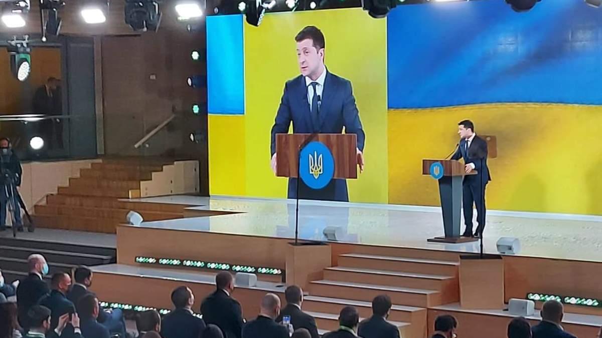 Зеленский выступил на съезде Слуги народа 13.03.2021