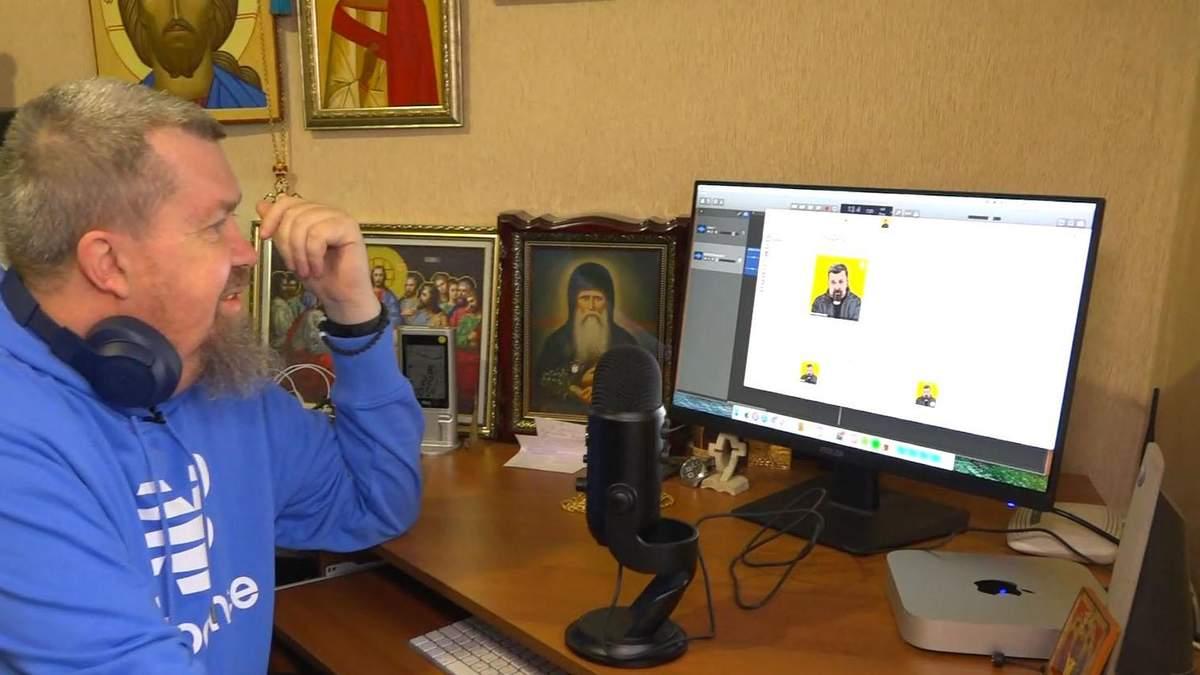 Священник из Луганщины записывает видеоблоги