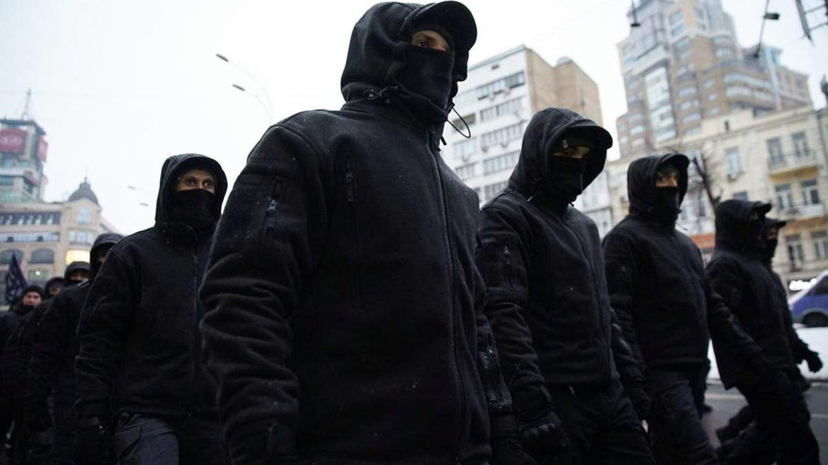 У Крещатика заметили титушок перед акцией за Стерненка 20 марта