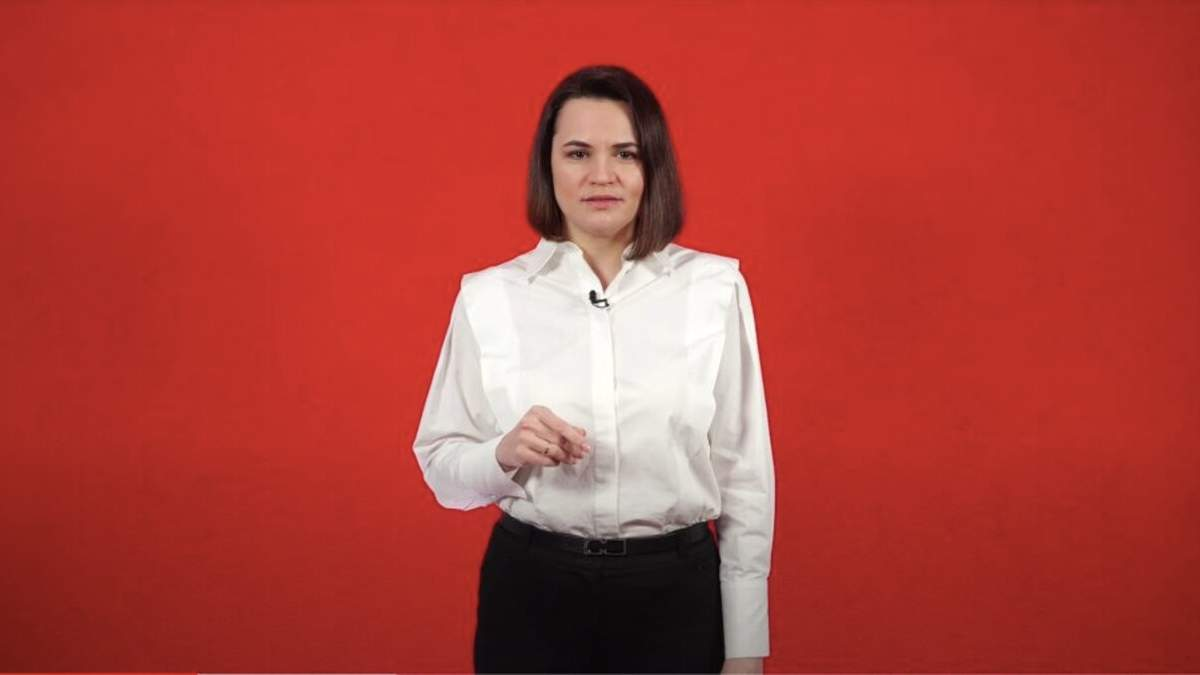 Тихановська закликала білорусів до нового протесту: відеозвернення