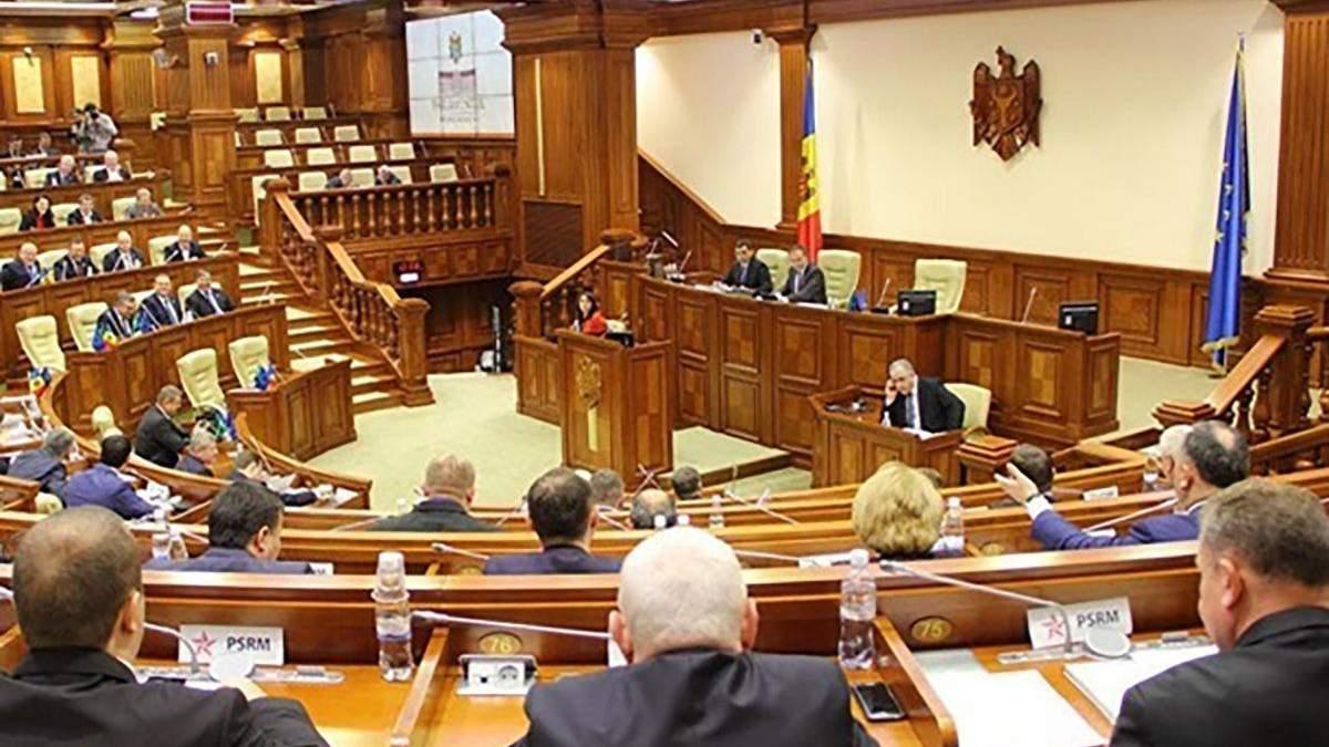 Парламент Молдовы не поддержал назначение нового правительства