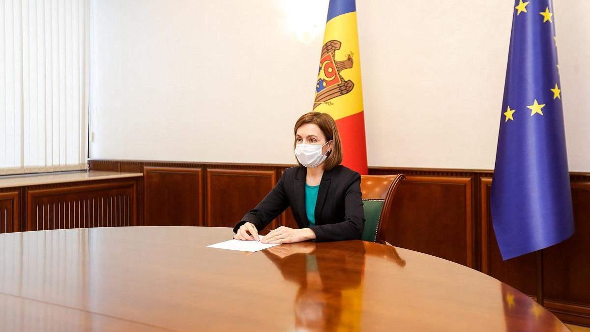 Майя Санду хоче отримати для Молдови російський Супутник V