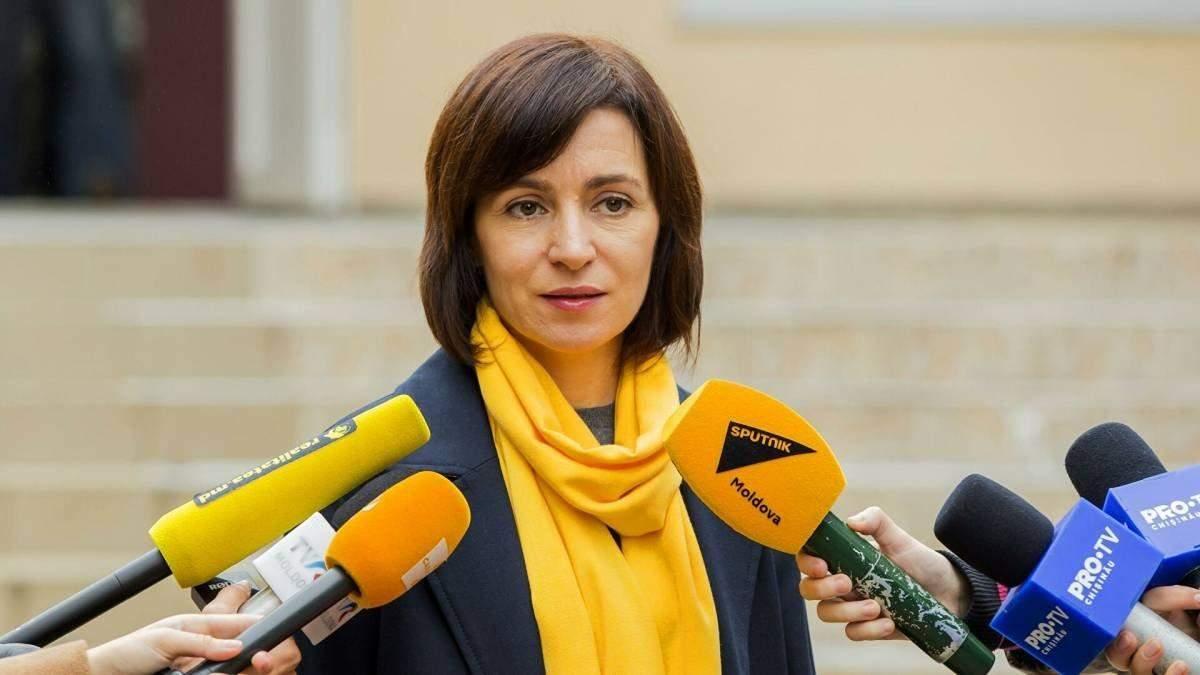 Санду планує повернути майно Молдови в Україні