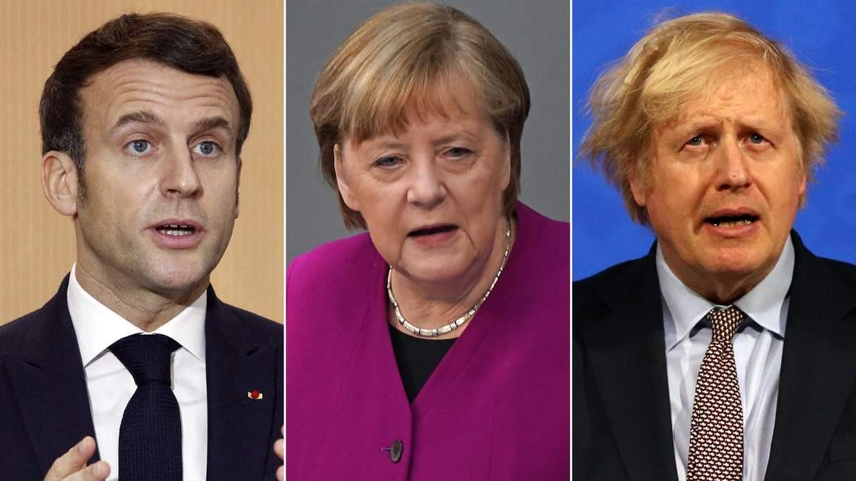 Макрон, Меркель та Джонсон
