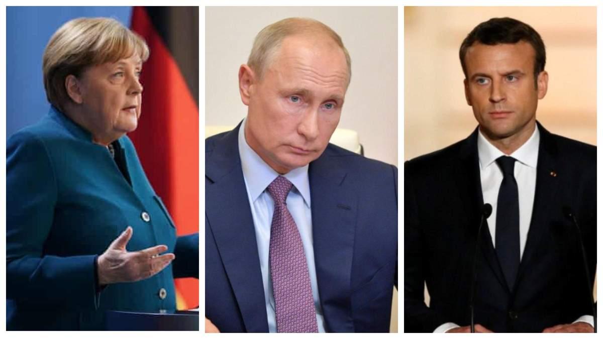 Меркель та Макрон прокоментували розмову з Путіним про Донбас