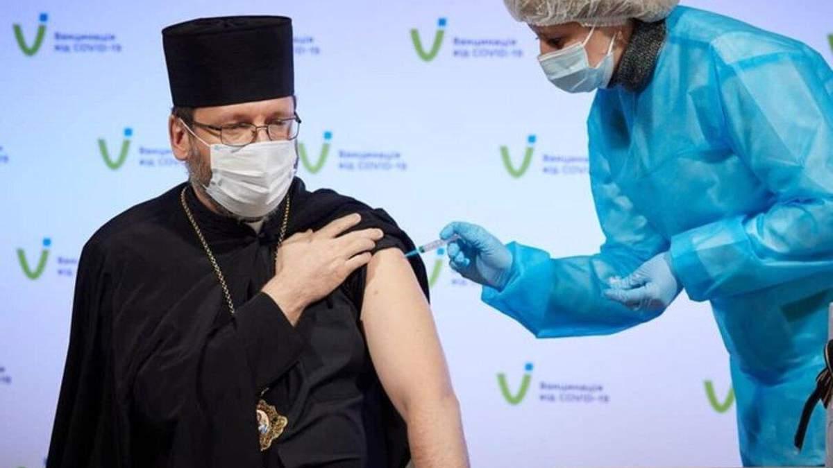 Глава УГКЦ Святослав про вакцинацію: немає підстав відмовлятися