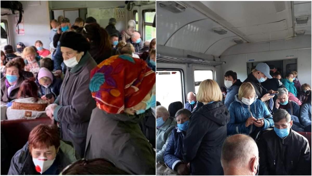 Заполненность электрички 202%: на Черниговщине нарушают карантин