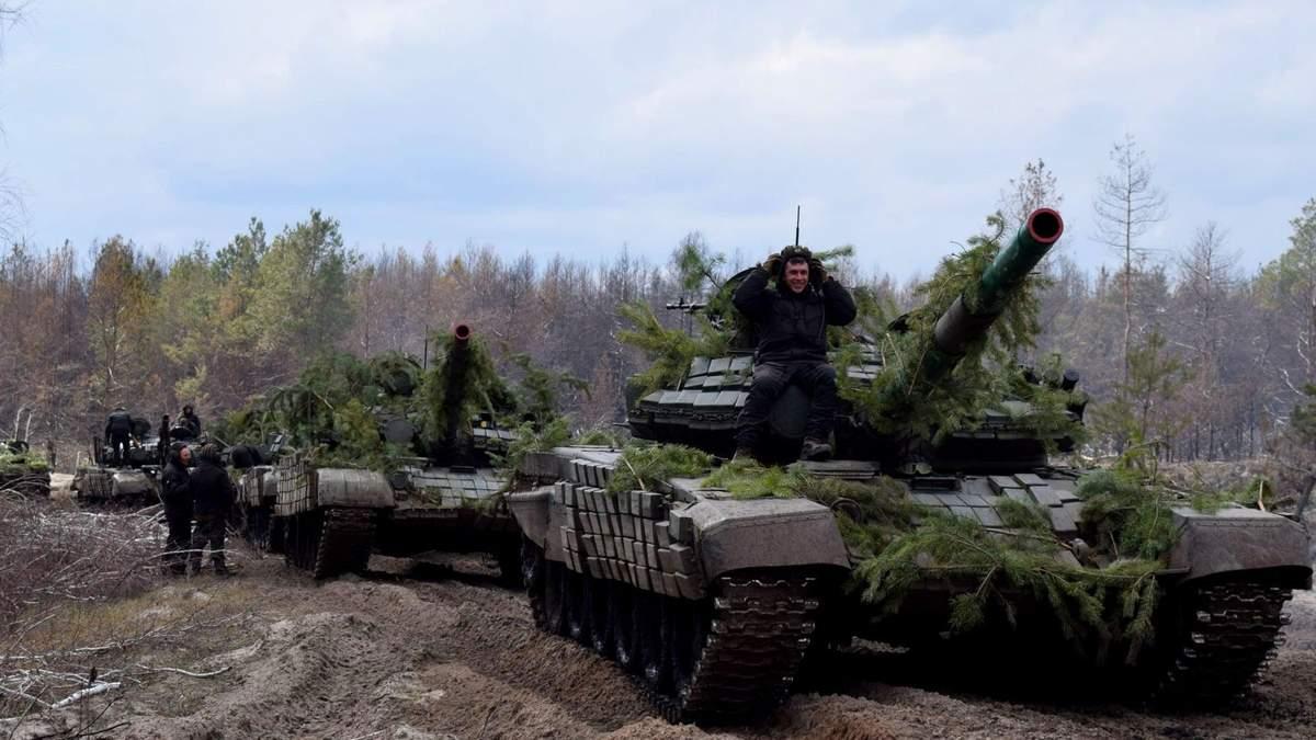 На Луганщині пройшли навчання танкових резервів ЗСУ: фото
