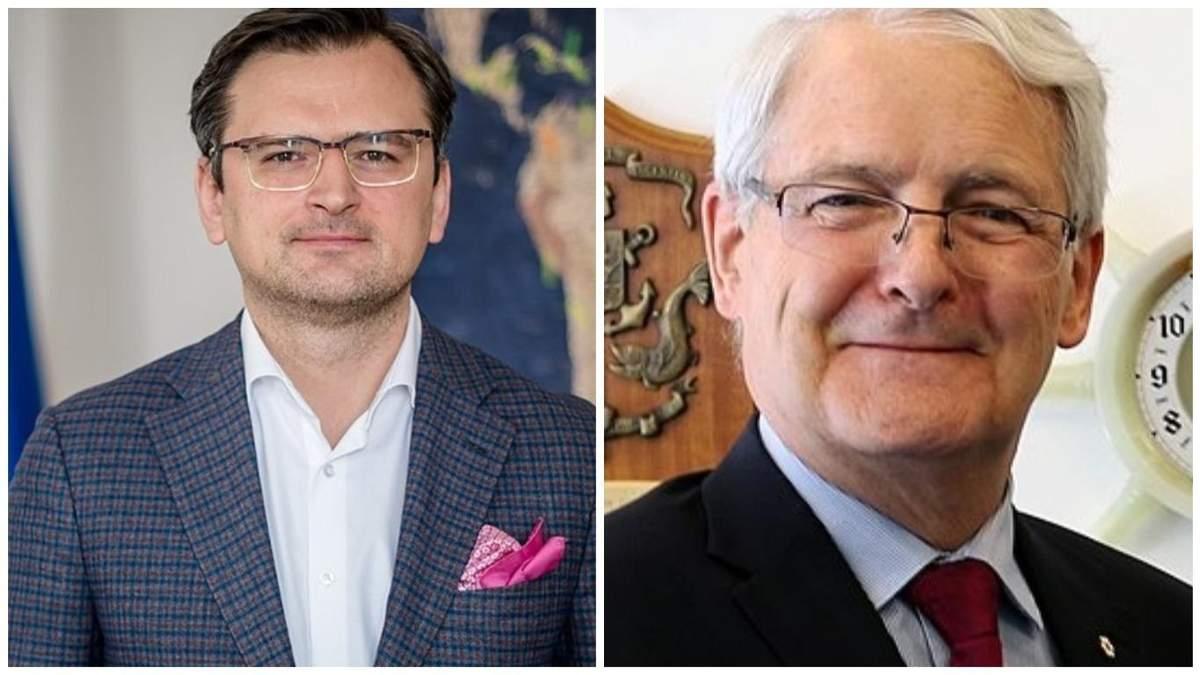 Кулеба обсудил с главой МИД Канады эскалацию на Донбассе