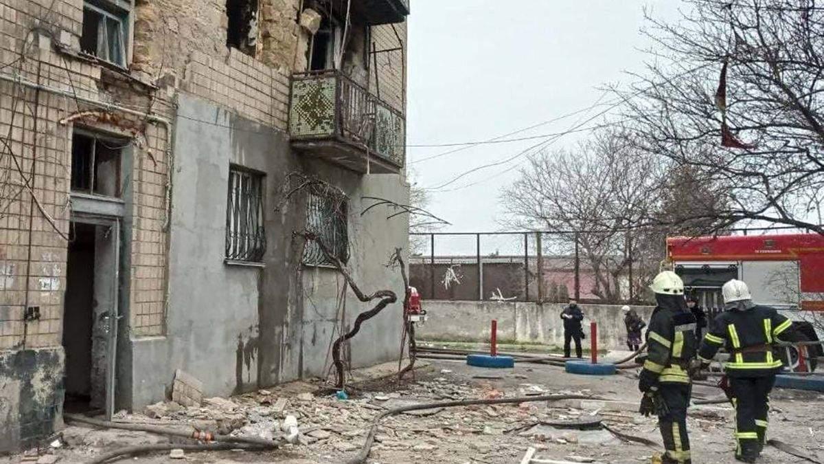 Взрыв бытового газа в жилом доме в Одессе 02.04.2021