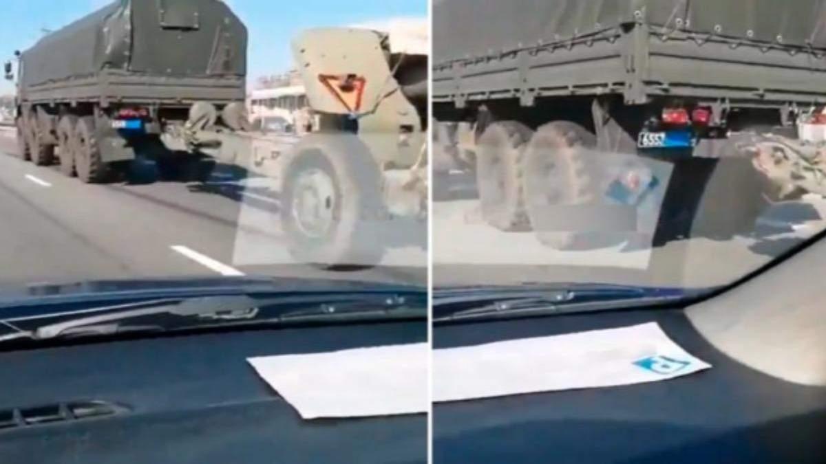 Россия везет до границы с Украиной военную технику, маскируя номера