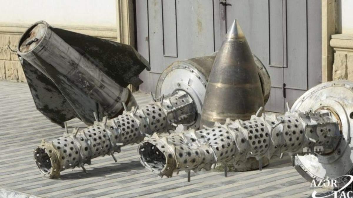 Азербайджан нашел доказательства обстрелов российскими ракетами: фото