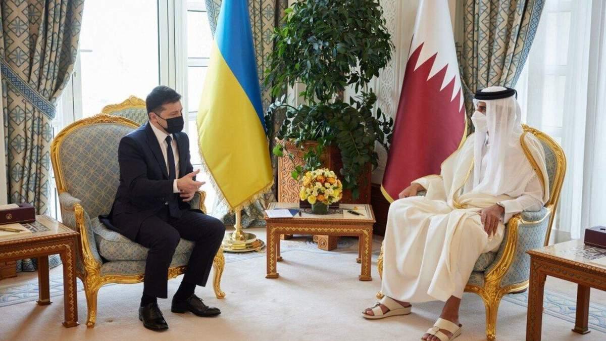 Зеленский встретился с эмиром Катара