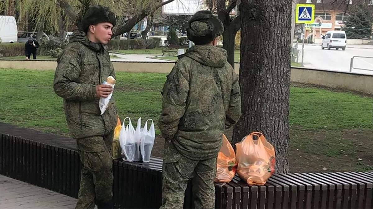 Российские военные в Феодосии массово скупают продукты: фото