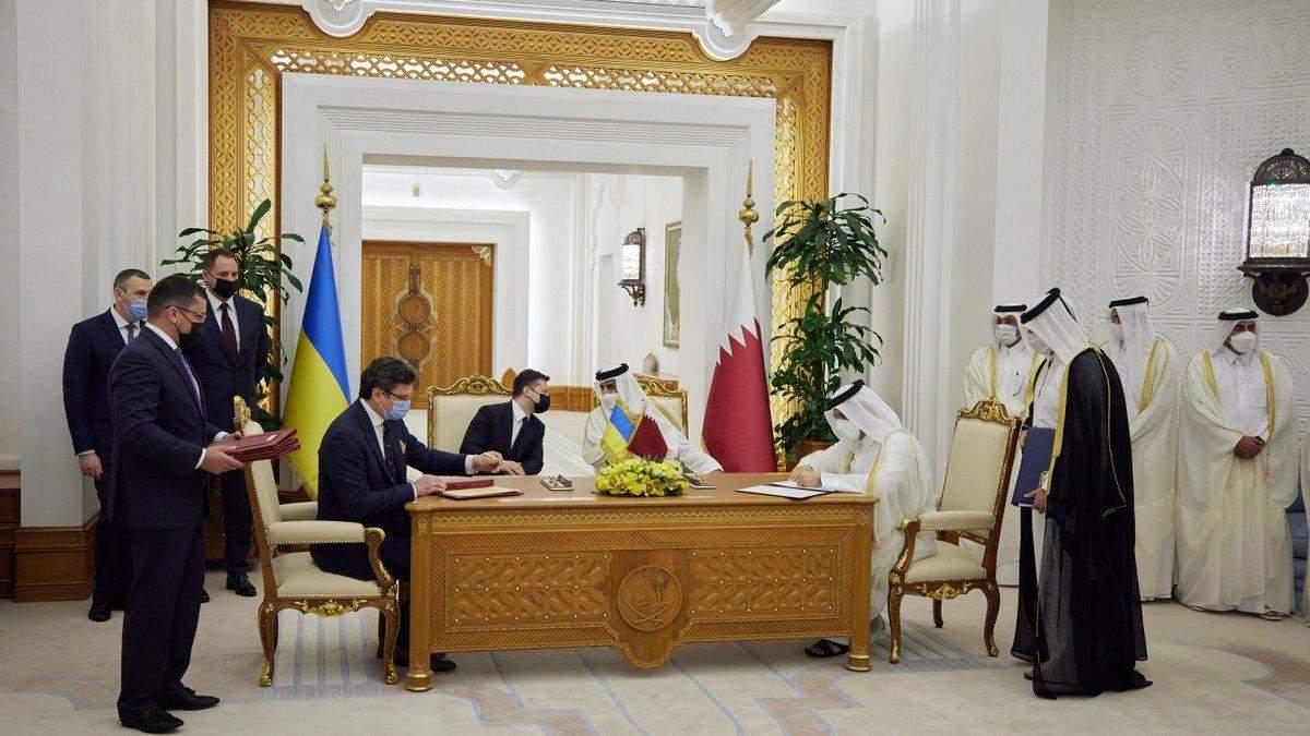Украина и Катар подписали 15 совместных соглашений
