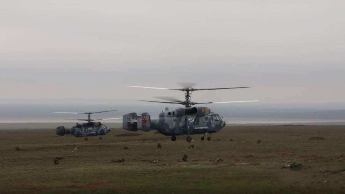 Росія провела масштабні військові навчання в окупованому Криму