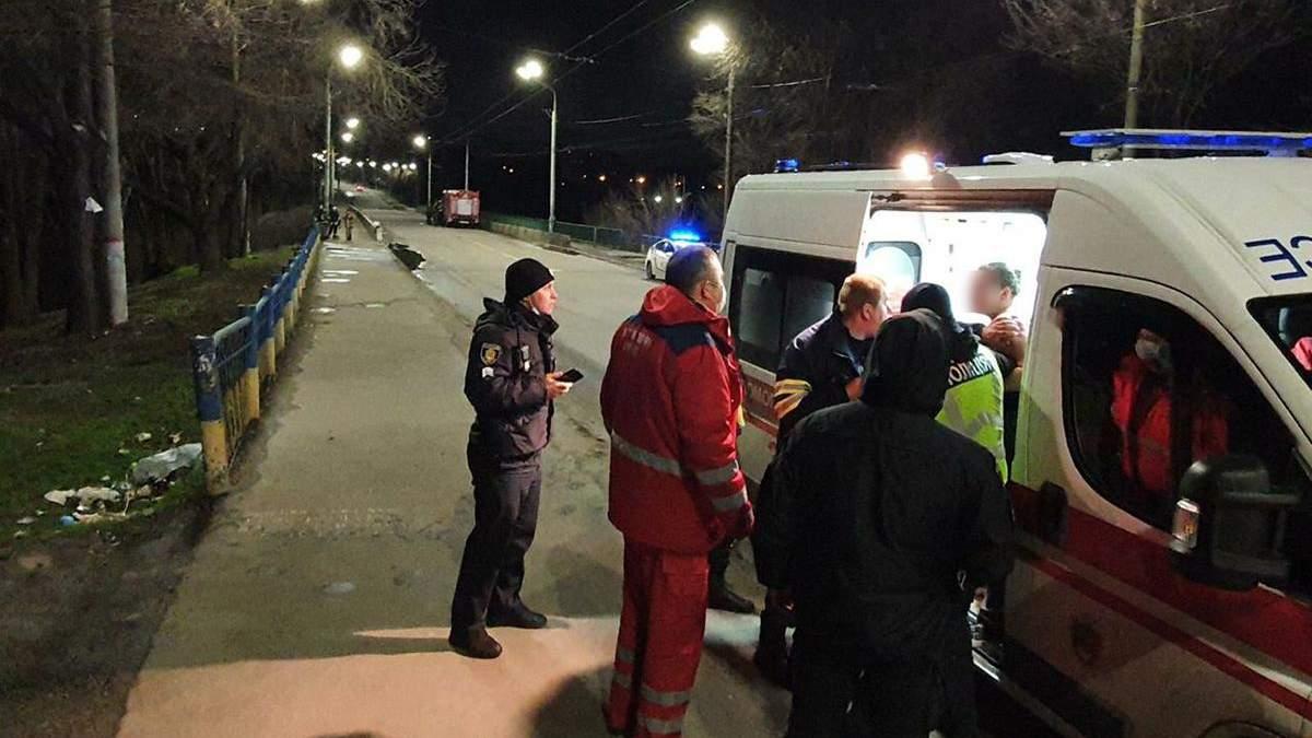 В Кривом Роге спасли девушку, что прыгнула с моста: видео