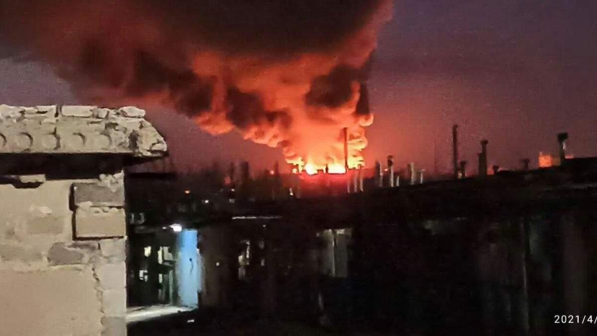 В Донецьку спалахнув м'ясокомбінат 10 квітня 2021: фото, відео
