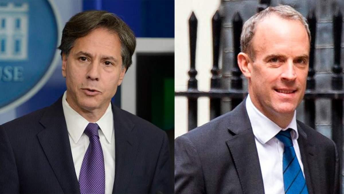 США и Британия обещают Украине поддержку во время провокаций России