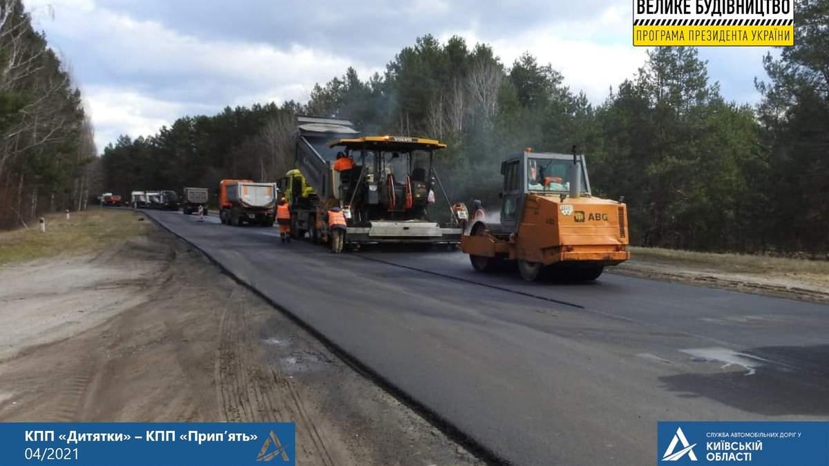 Велике будівництво у Чорнобильській зоні: оновлюють дороги